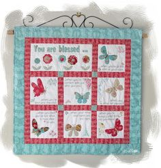 (7) Name: 'Quilting : You Are Blessed Free BOM Quilt Pattern 9