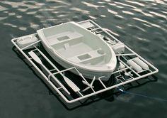 Life-size boat model kit sprue by Michael Johansson