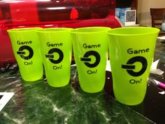 Cups for Xbox party