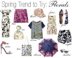 Looking for ideas for your spring wardrobe? A great Spring Trend to try is florals! Here are some great ideas for including florals this Spring,reblogged from The Thread Affect: Outfitting yourself in florals for spring is obviously not a revolutionary idea, however, this season they are gracing anything and everything from your feet to your … … Continue reading →