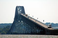 Nightmare Bridge, Route 301, across the Potomac, from Maryland shore.