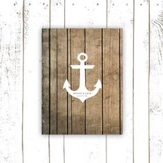 Anchor Guest Book, Beach Wedding Guest Book Alternative for Summer Wedding, Nautical Wedding Poster, Anchor on Wood by MooseberryPaperCo on Etsy https://www.etsy.com/listing/182983890/anchor-guest-book-beach-wedding-guest