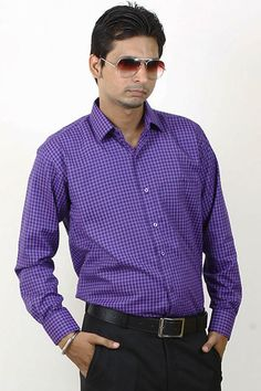 a932c56834e Buy Checks Blue and Black Casual Lycra Shirt For Men Online in India · Half  Sleeve ...