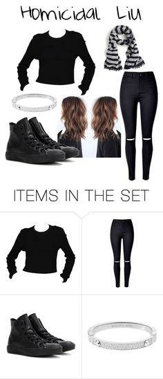 """Homicidal Liu Creepypasta Girl Outfit"" by marcykxx ❤ liked on Polyvore featuring art"