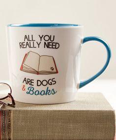 Look at this #zulilyfind! 14-Oz. 'Dogs & Books' Ceramic Mug #zulilyfinds