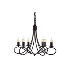Lyndon 6-Light Dark Bronze Pendant Lamp