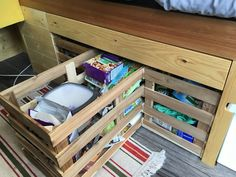 food storage in camper van design