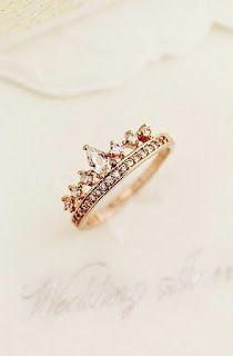 Crown style diamond rings