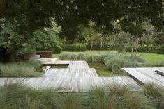modern deck surrounded by ornamental grass (Country Beauty ‹ Peter Fudge) Modern Landscaping, Garden Landscaping, Modern Planting, Outdoor Rooms, Outdoor Gardens, Landscape Architecture, Landscape Design, Design Jardin, Contemporary Garden
