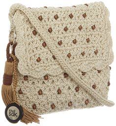 The SAK Casual Classics Flap Cross Body,Natural/Wood Beads,One Size