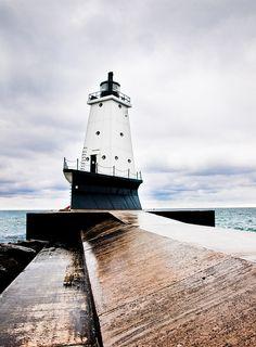 Ludington, MI- we take our jet skiis to Ludington to see this lighthouse!