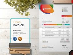 Invoice Template designed by BdThemes. Connect with them on Dribbble; Invoice Design Template, Letterhead Template, Templates, Show And Tell, Photoshop, Graphics, Role Models, Graphic Design, Template