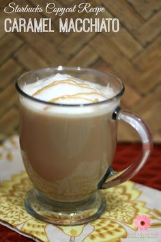 Now you can enjoy your favorite Starbucks drink anytime you want and even make some for friends. Check out this Starbucks Caramel Macchiato Copycat Recipe. Tea Recipes, Coffee Recipes, Copycat Recipes, Drink Recipes, Recipies, Snack Recipes, Dinner Recipes, Snacks, Fun Drinks