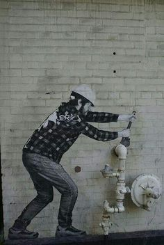 any image that incorporates its surroundings is amazing #graffiti #streetart