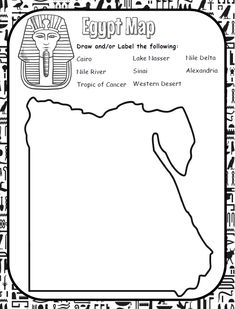 Learn geography with this Egypt map This worksheet is from my free Ancient Egypt… Ancient Egypt Lessons, Ancient Egypt Activities, Ancient Egypt Crafts, Ancient Egypt For Kids, Ancient Egypt History, Ancient Egypt Fashion, Egypt Map, Luxor Egypt, 6th Grade Social Studies