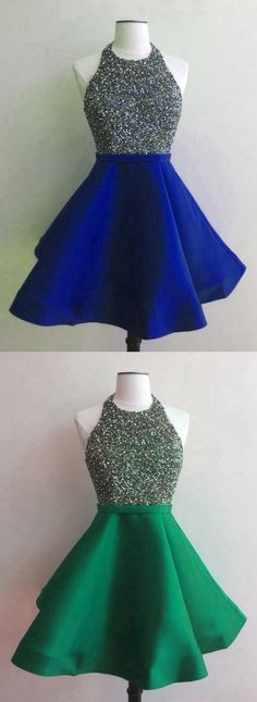 I need this dress ! Homecoming Dress with Top Beading, Back To School Dress, Short Prom Dresses For Teens pst1661