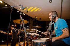 """La banda """"Jack Trébol"""" sobre el escenario del Eduardo Ocón."""