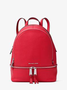 MICHAEL KORS Rhea Medium Leather Backpack. #michaelkors #bags #leather #backpacks #