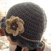 Crochet 20 Different Types of Hats with These Free and Easy Patterns: Daisy Mae Cloche Hat With Flower, Sized for Toddlers - Adults