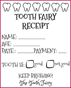 Tooth fairy #printab