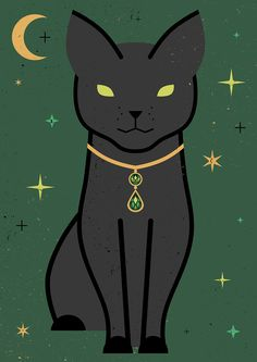 Lucky Black Cat Illustrations