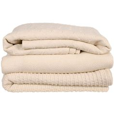 natural cotton blankets by brahms mount - ABC Carpet & Home ❤ liked on Polyvore featuring home, bed & bath, bedding, blankets, fillers, accessories, other, brahms mount blankets, cotton bedding и cotton bed linen