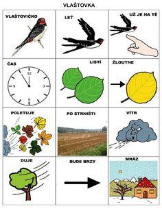 Pro Šíšu: Básničky i pro autíky Preschool Themes, Autumn Activities, Pictogram, Montessori, Crafts For Kids, Language, Pictures, Autism, Crafts For Children