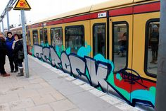 TCROCK  Graffiti on Trains,  S-Bahn Berlin