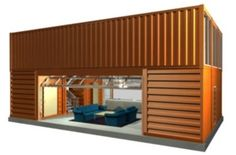The Quik House designed by Adam Kalkin is a prefabricated kit house from recycled shipping containers. It has three bedrooms and two and one...