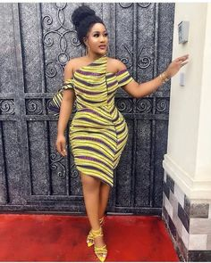 The best collection of 2018 most stylish ankara designs you've been looking for. We have them complete stylish ankara designs 2018 here Short African Dresses, Ankara Short Gown Styles, Trendy Ankara Styles, Short Gowns, African Print Dresses, Ankara Gowns, African Prints, African Print Top, Ankara Blouse