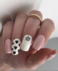 pink nails, Natural short square nails design for summer nails, acrylic square nails short, square n Square Nail Designs, Short Nail Designs, Cool Nail Designs, Acrylic Nail Designs, Stylish Nails, Trendy Nails, Pink Nails, My Nails, White Nails