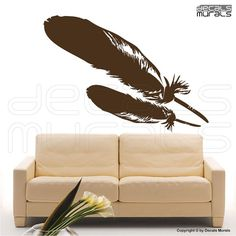 Wall decal FEATHERS Vinyl art stickers modern home decor by Decals Murals via Etsy
