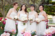Stunningly soft and romantic...Bride & Maids by Total Brides hair & makeup