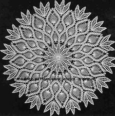 Pineapple Doily free vintage crochet doilies pattern