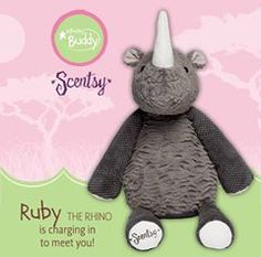 New Ruby the Rhino Scentsy buddy available while supplies last. https://brennamurphy.scentsy.ca