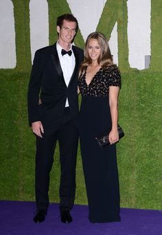 Wimbledon winner Andy Murray and Kim Sears wearing Burberry to celebrate at the Winner's Ball last night in London