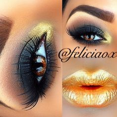 ♥ awesome yellow/gold eyes & lips