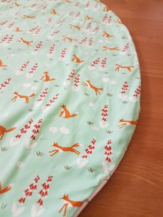 Organic cotton Fox play mat with a canvas backing so you can use it outdoors, park, beach or backyard. Little Swan Designs. Burp Cloths, Swan, Baby Items, Bean Bag Chair, Organic Cotton, Goodies, Fox, Backyard, Outdoors