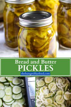 Bread and Butter Pickles ~ sweet and tangy, crunchy and a little spicy, these are the BEST pickles! Easy canning recipe to capture summer in a jar. #thehungrybluebird #breadandbutterpickles #canningrecipe #homemade #easyrecipe #picklesrecipes Best Pickles, Spicy Pickles, Canning Pickles, Homemade Pickles, Cucumber Canning, Bread And Butter Pickle Canning Recipe, Bread & Butter Pickles, Easy Canning, Canning Tips