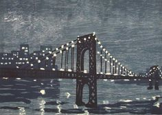 Bosman New York City Bridges at Night III