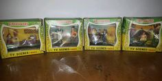 4 RARE Vtg Marx FAIRYKINS Tinykins MOTHER GOOSE Nursery Rhyme Minis in Boxes #Marx