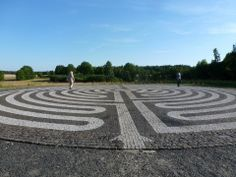 A Latvian pavement labyrinth in Chartres style