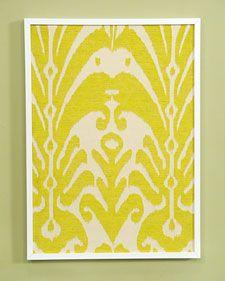 Framed Fabric - Martha Stewart DIY Decorating
