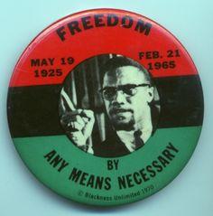 Malcolm X button