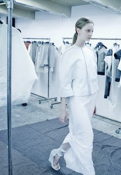 Codie Young at the Rick Owens S/S 2012 fittings