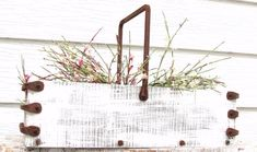 Wood Tray Planter Box Garden or Home Decor Wine by baconsquarefarm, $125.00