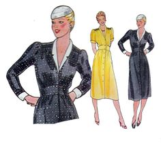 Vintage 70s Sewing Pattern EASY DRESS Shaped by HoneymoonBus, $9.99