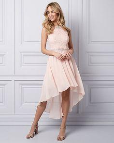 Lace & Chiffon High-Low Party Dress | LE CHÂTEAU
