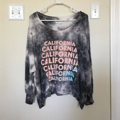 Wildfox California Dreamin' Tie-Dye Nevada Jumper brand new with tags / never before worn. in a size small but will fit through a large depending on desired fit. Wildfox Sweaters Crew & Scoop Necks