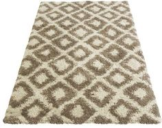 Buy Diamond Shaggy Natural Rug - 160 x 230cm at Argos.co.uk, visit Argos.co.uk to shop online for Rugs and mats